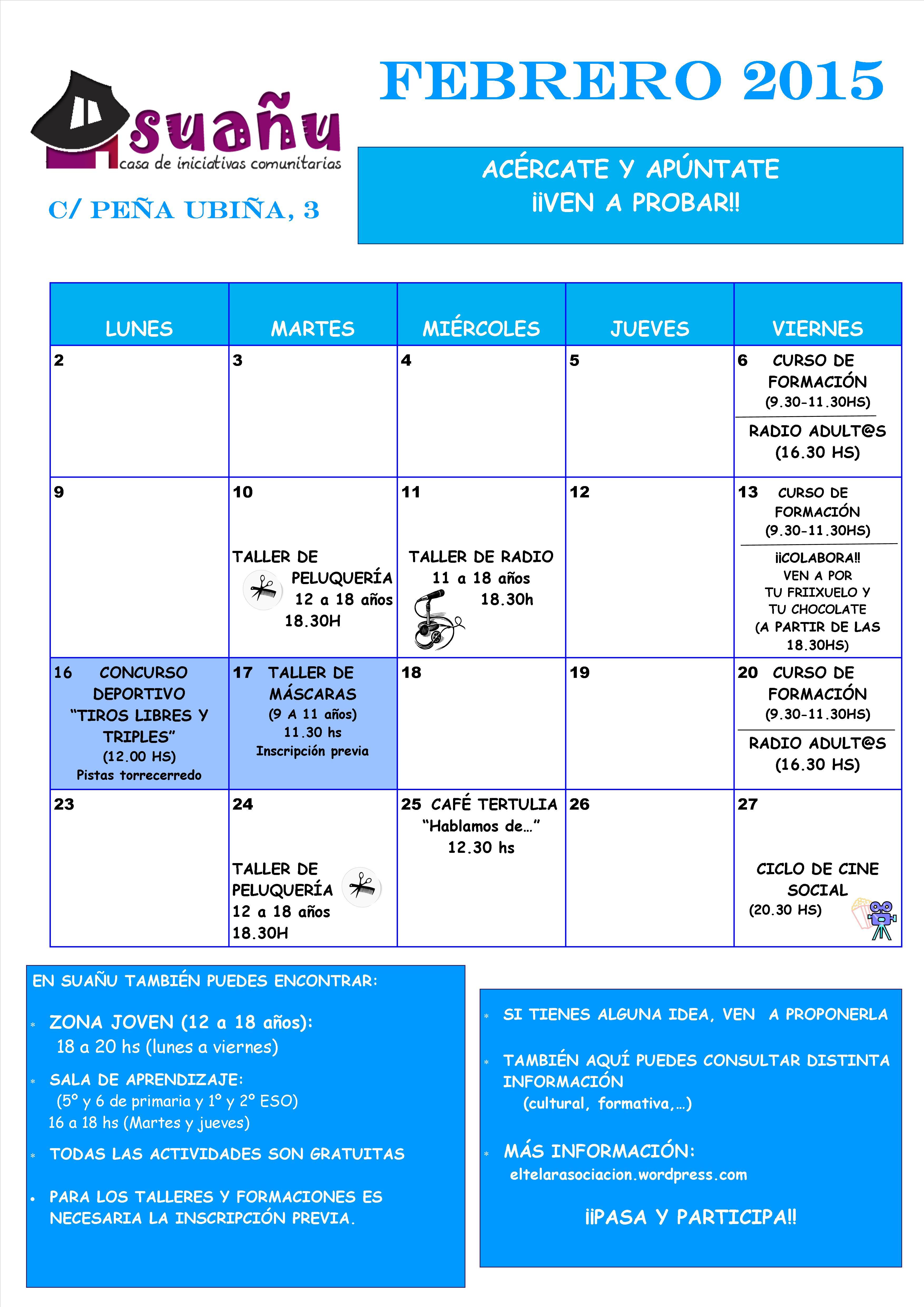 programación febrero 15