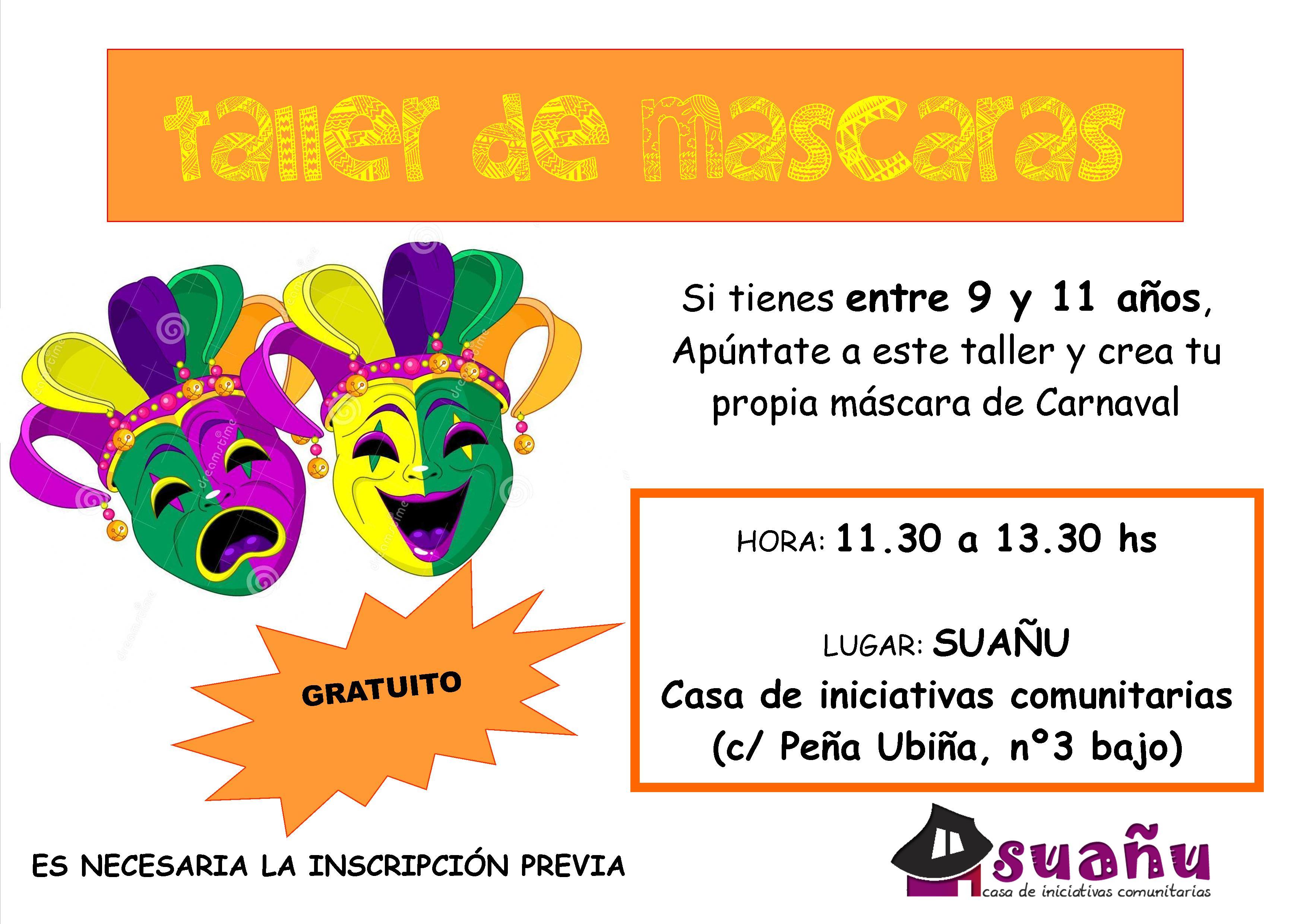 taller de máscaras carnaval