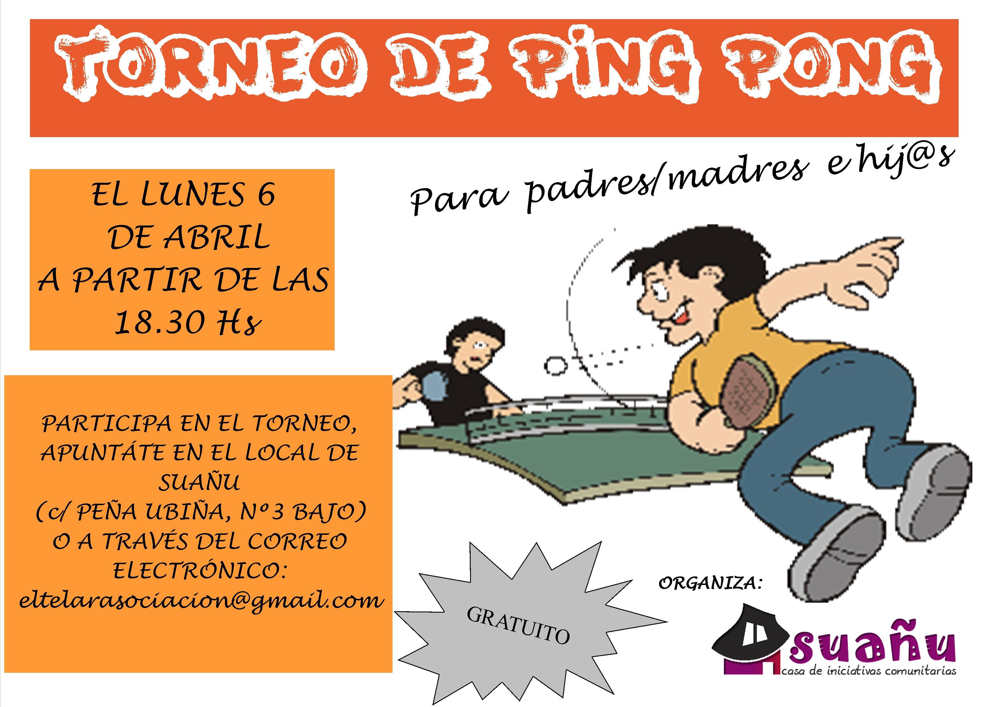 cartel torneo de ping pong familias