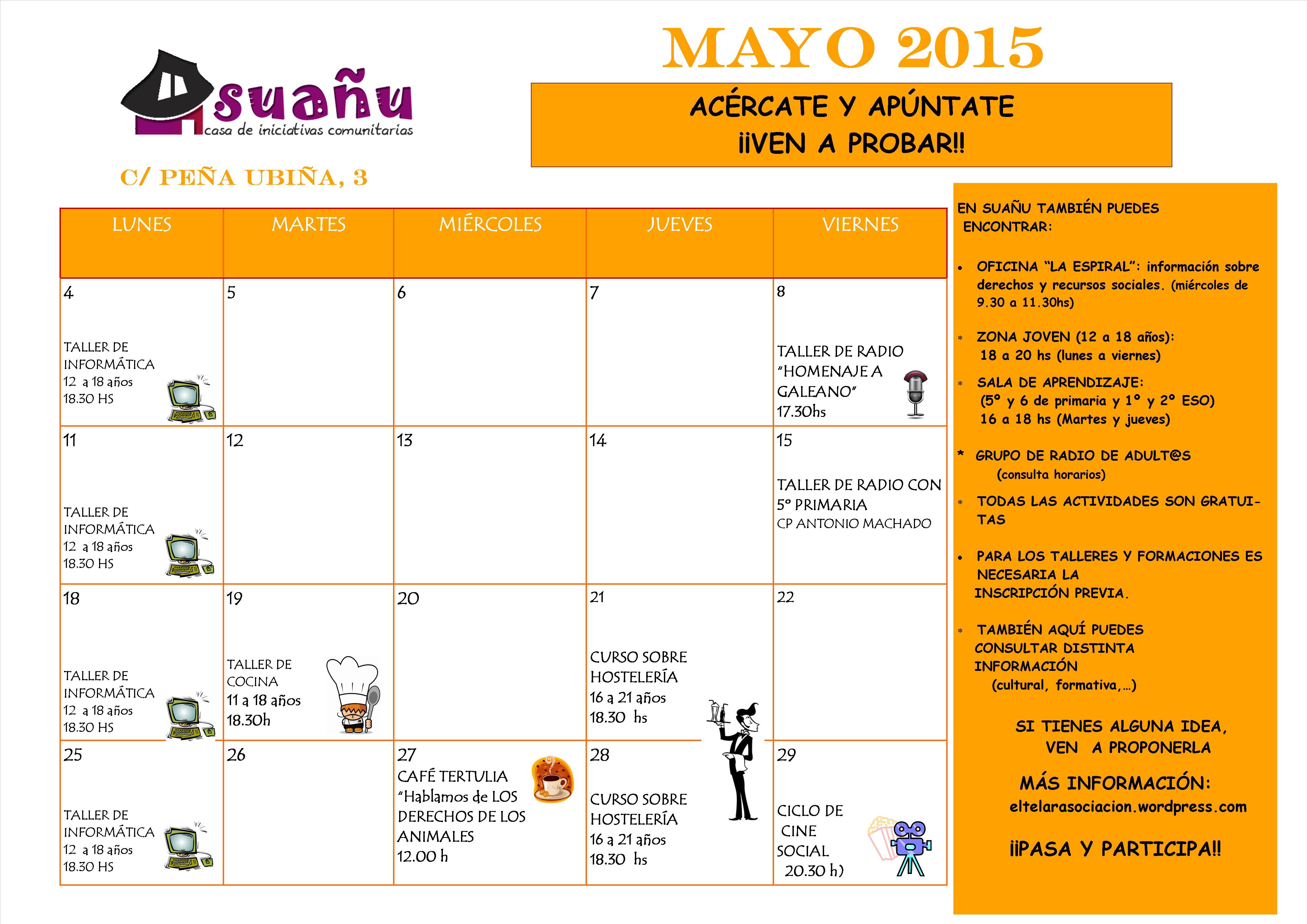 programación mayo 2015