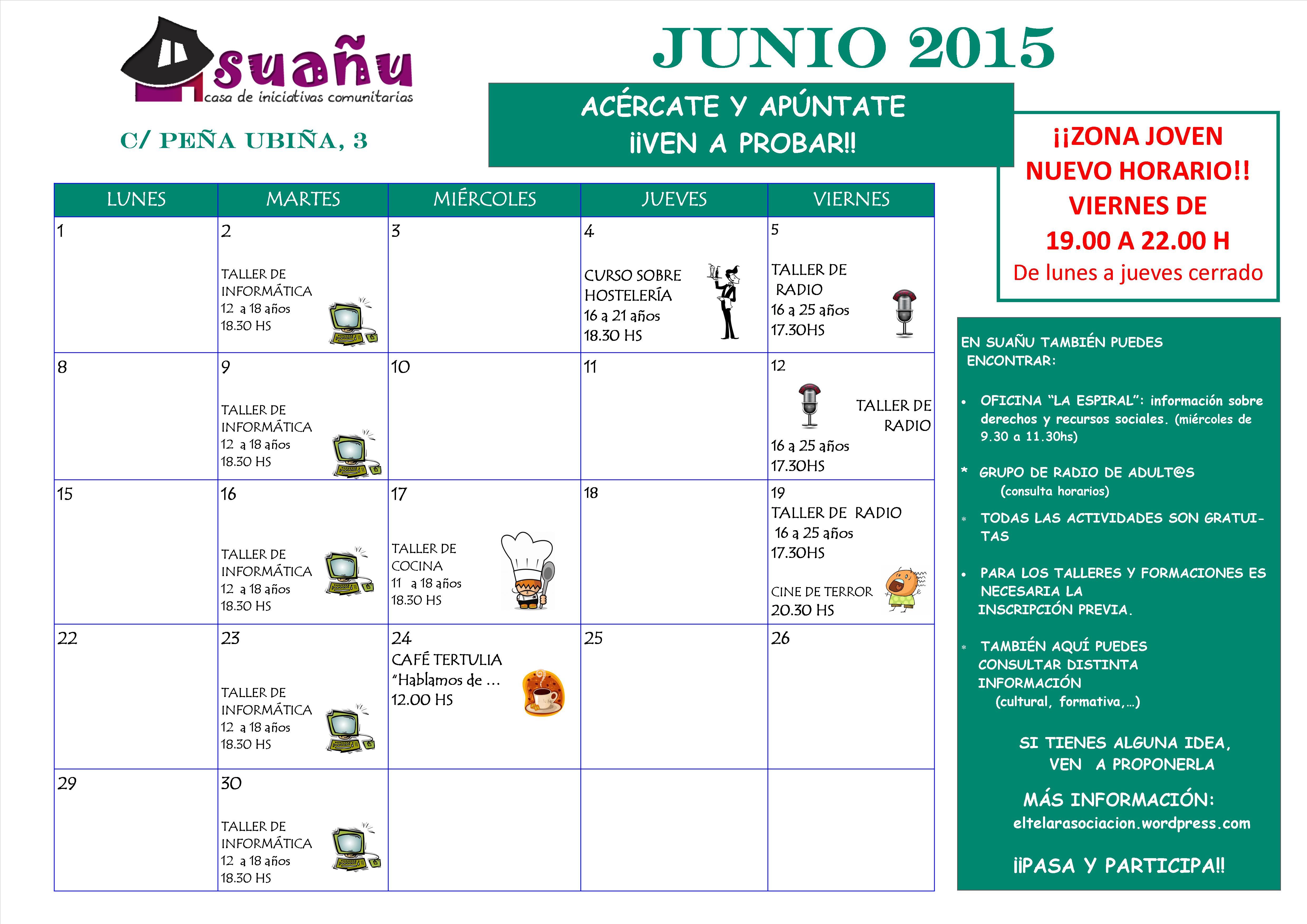 programación junio 2015