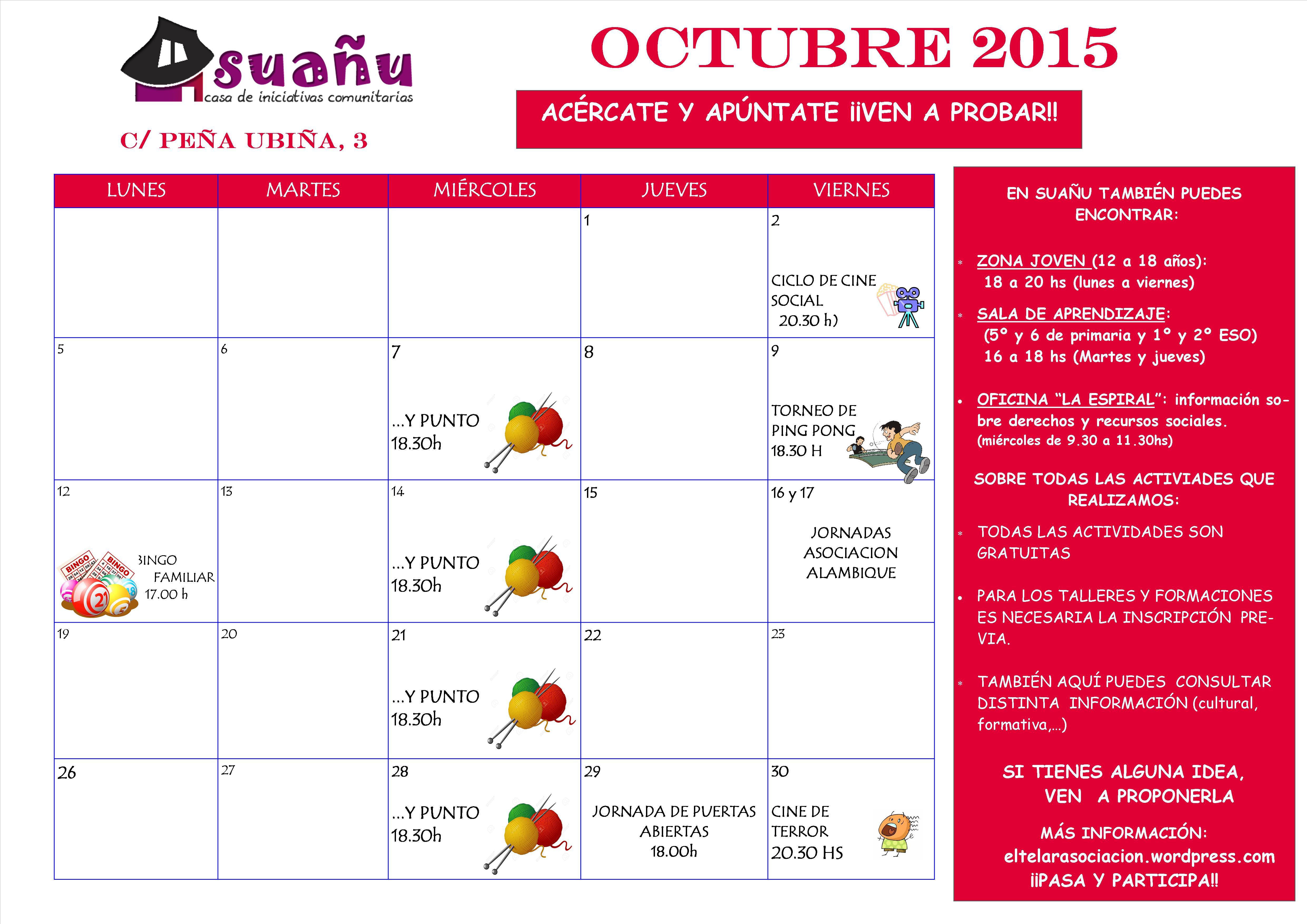 programación octubre 15