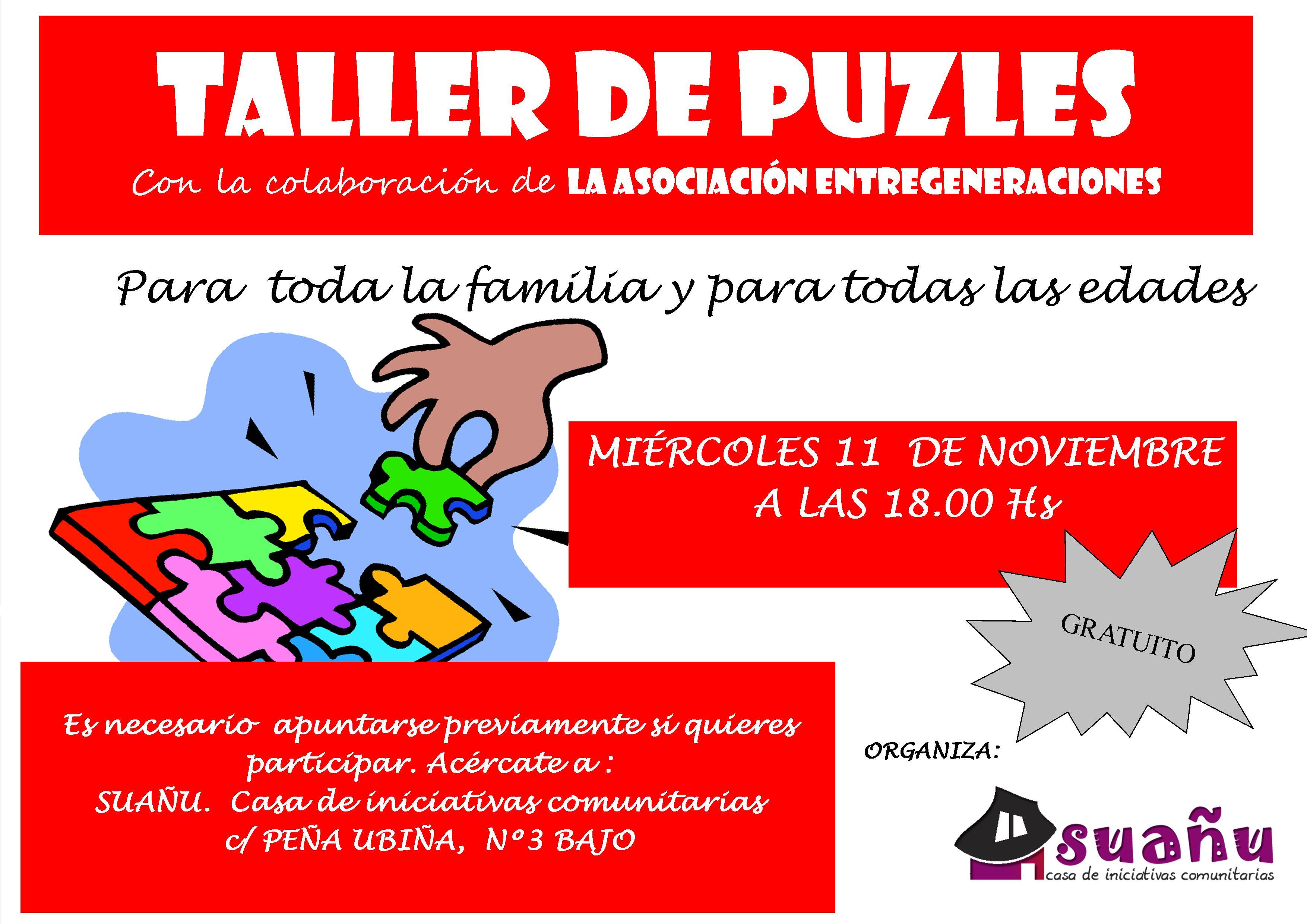 cartel taller de puzzles