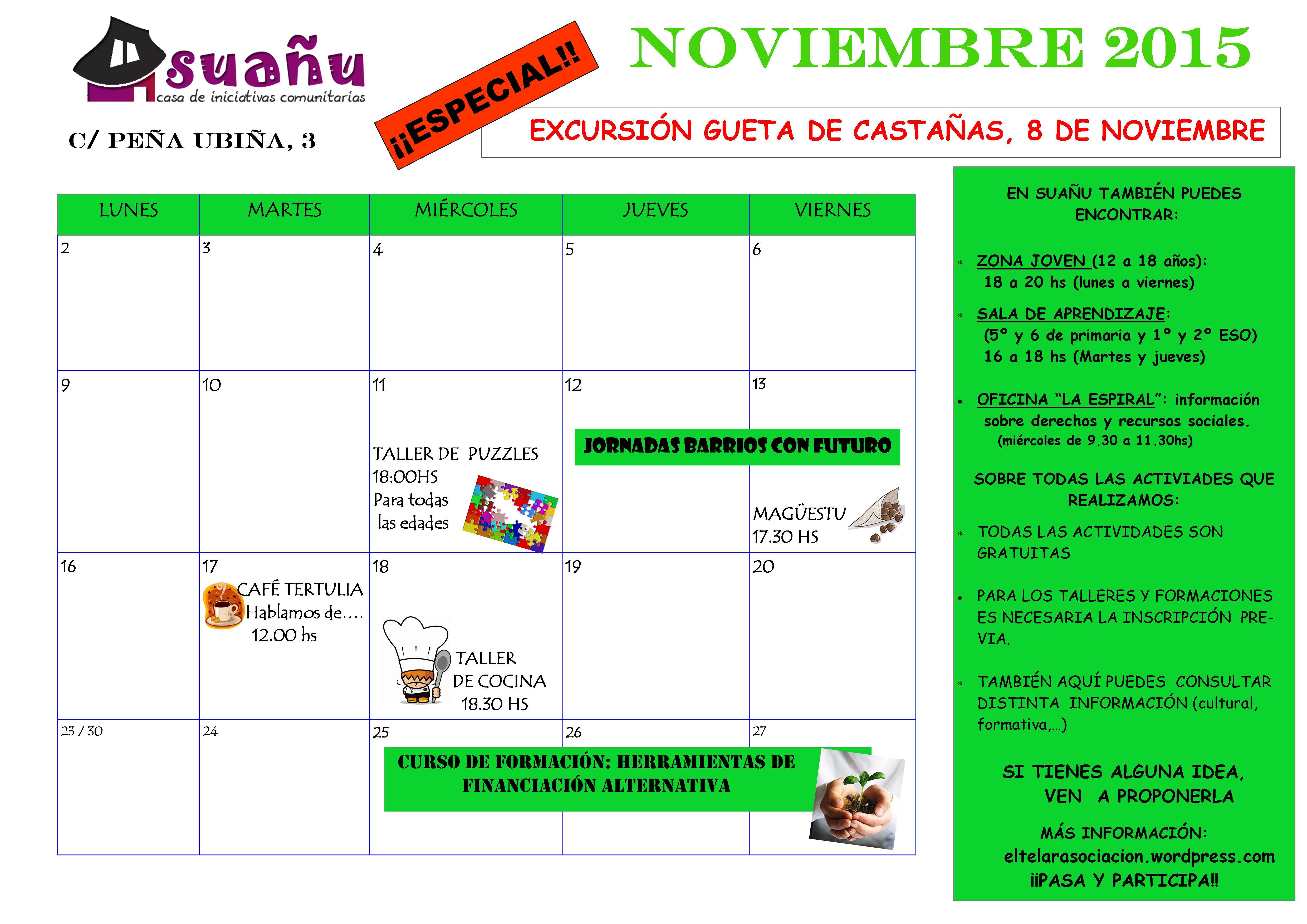 programación noviembre 15