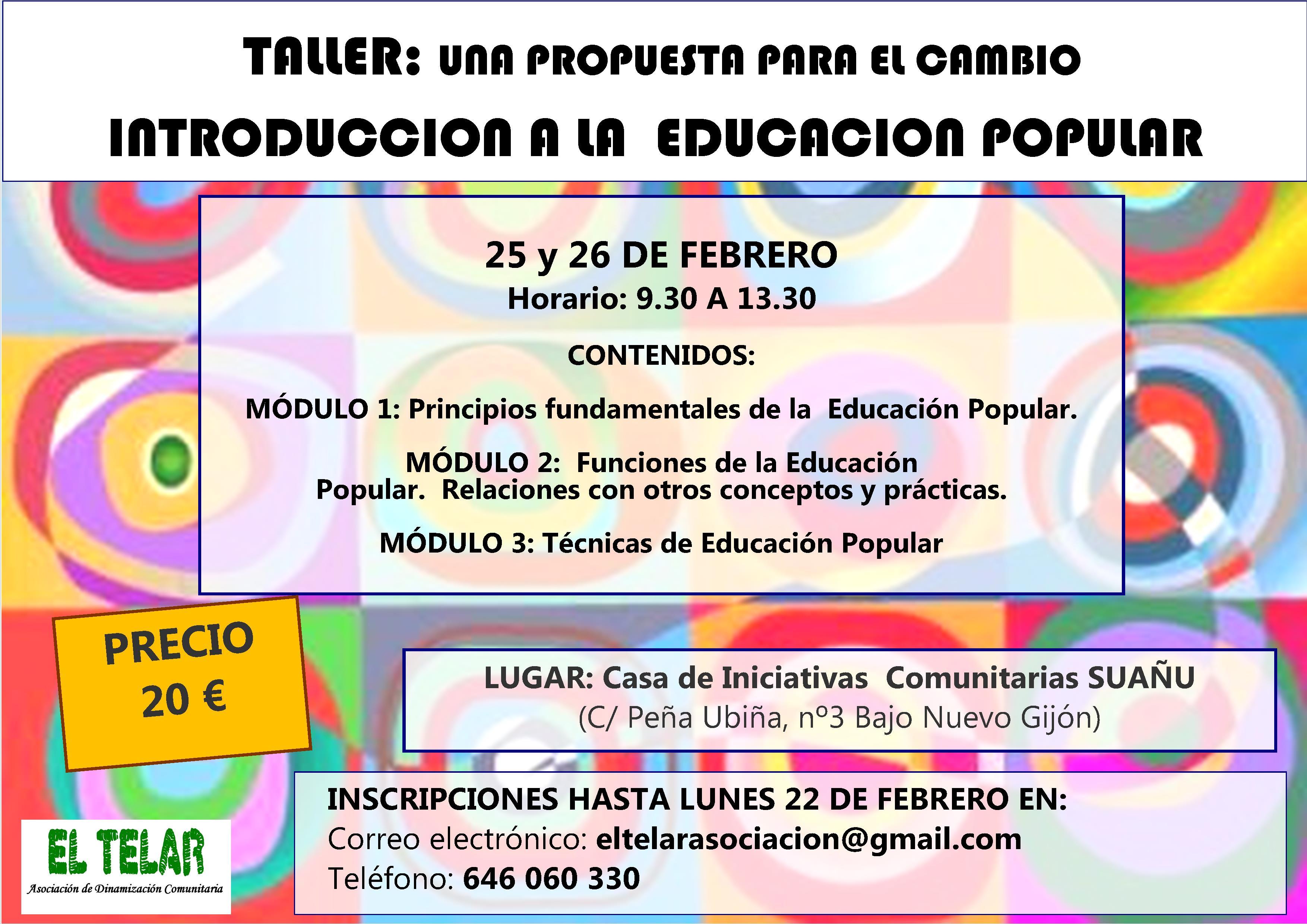cartel escuela de educacion popular FEBRERO 2016