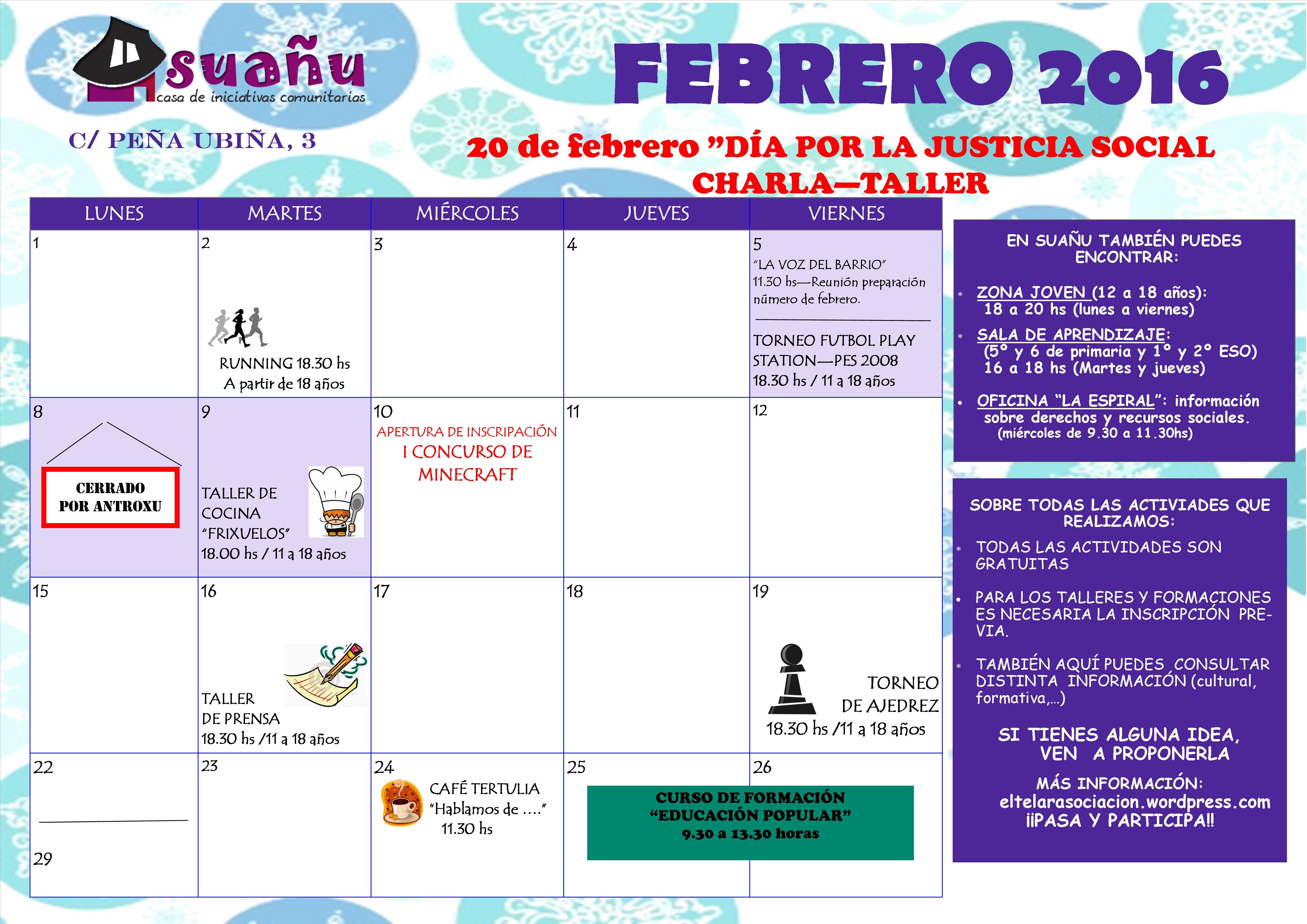 programación febrero 16